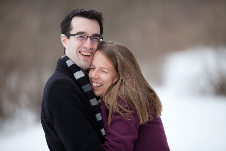 Snowy Upstate New York Cabin Engagement Photo Session (6)