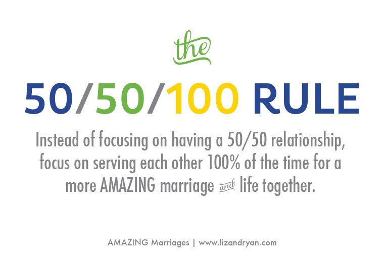 How to Have an AMAZING Marriage - the 50/50/100 Rule