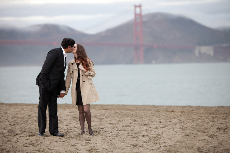 San Francisco Engagement Session Golden Gate Bridge Baker Beach City Downtown SF Crissy Field Palace of Fine Arts California Urban Engagement Photos by Liz and Ryan (15)