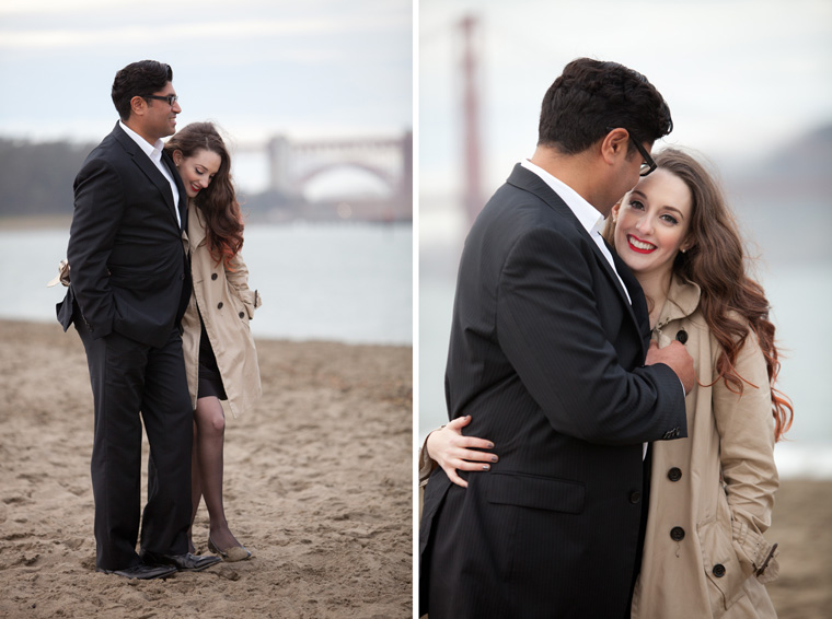 San Francisco Engagement Session Golden Gate Bridge Baker Beach City Downtown SF Crissy Field Palace of Fine Arts California Urban Engagement Photos by Liz and Ryan (14)