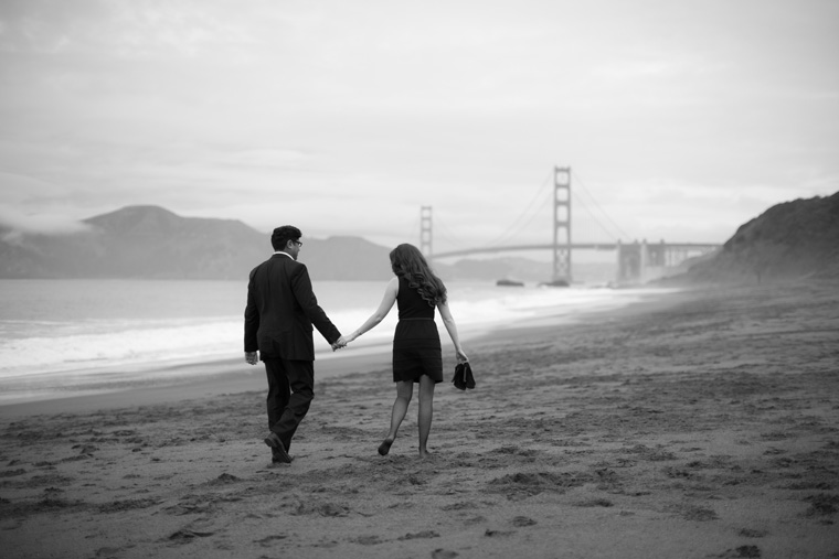 San Francisco Engagement Session Golden Gate Bridge Baker Beach City Downtown SF Crissy Field Palace of Fine Arts California Urban Engagement Photos by Liz and Ryan (13)