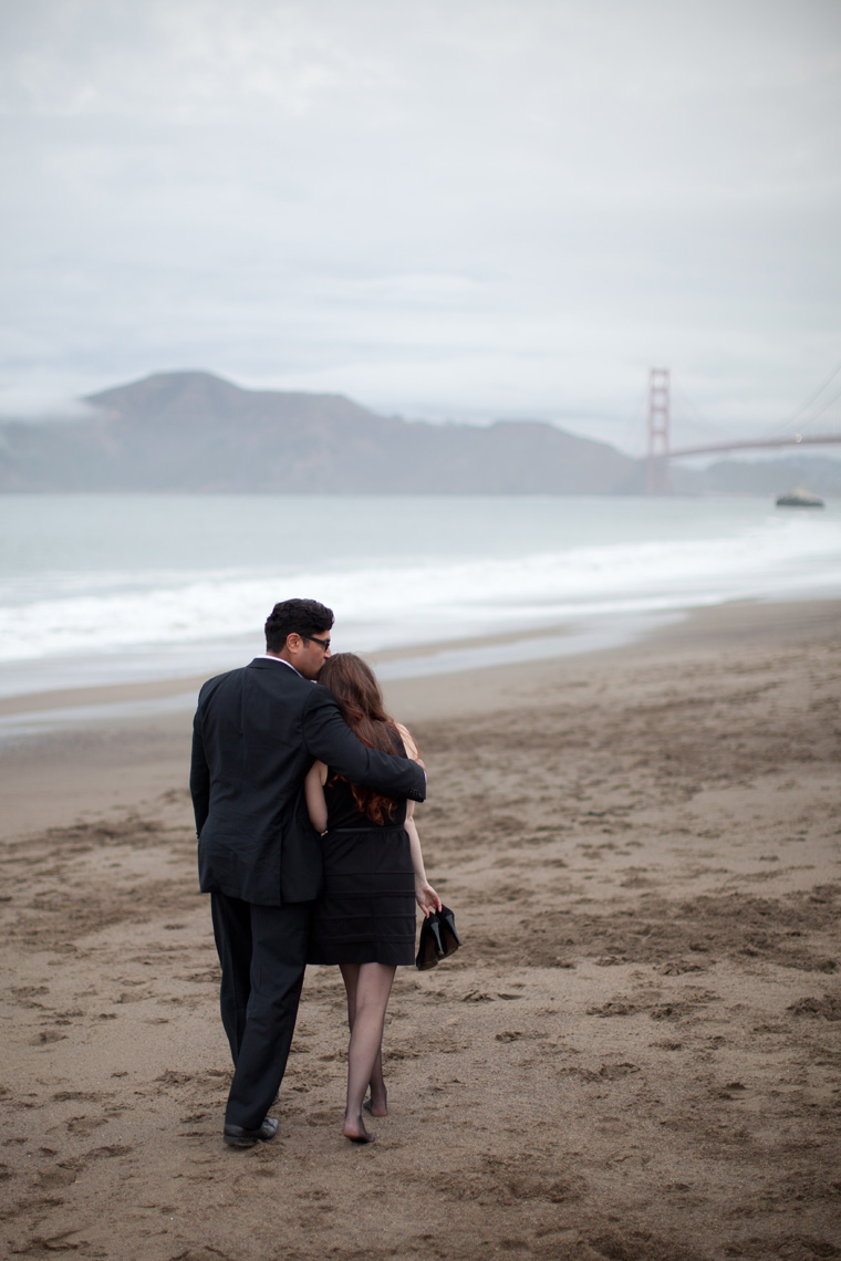 San Francisco Engagement Session Golden Gate Bridge Baker Beach City Downtown SF Crissy Field Palace of Fine Arts California Urban Engagement Photos by Liz and Ryan (7)