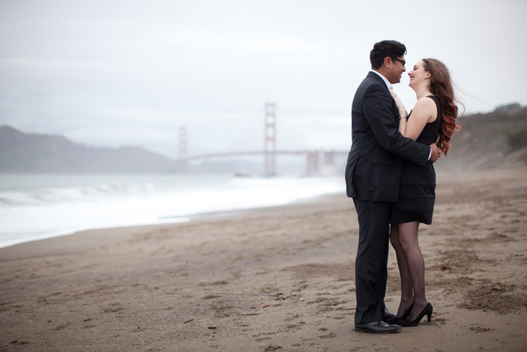 San Francisco Engagement Session Golden Gate Bridge Baker Beach City Downtown SF Crissy Field Palace of Fine Arts California Urban Engagement Photos by Liz and Ryan (6)