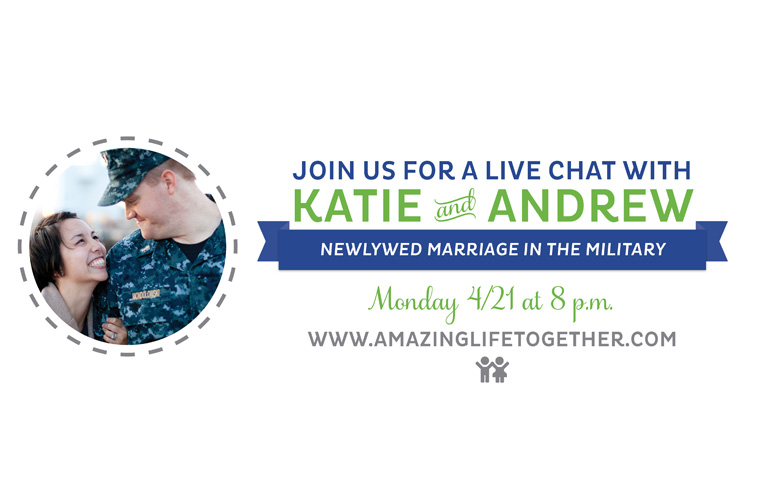Life in the Military - Katie and Andrew Chat - small