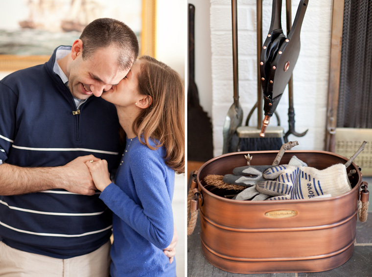 Cozy Winter Engagement Session Washington DC Fireplace Snow Photos by Liz and Ryan (13)