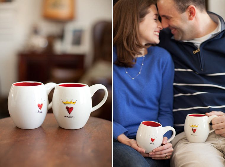 Cozy Winter Engagement Session Washington DC Fireplace Snow Photos by Liz and Ryan (10)