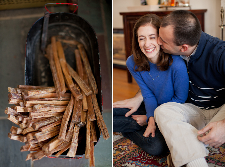 Cozy Winter Engagement Session Washington DC Fireplace Snow Photos by Liz and Ryan (9)