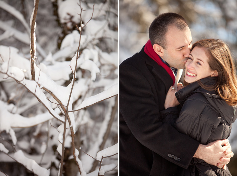 Cozy Winter Engagement Session Washington DC Fireplace Snow Photos by Liz and Ryan (6)