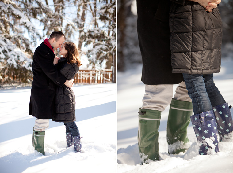 Cozy Winter Engagement Session Washington DC Fireplace Snow Photos by Liz and Ryan (5)