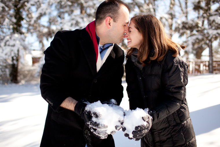 Cozy Winter Engagement Session Washington DC Fireplace Snow Photos by Liz and Ryan (4)