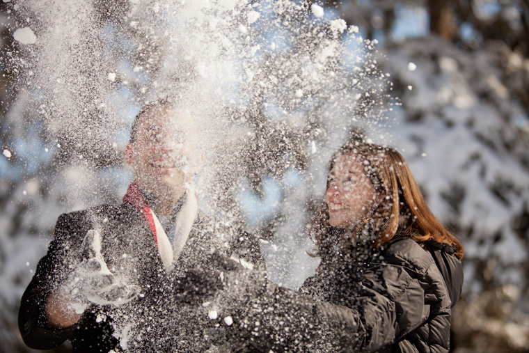 Cozy Winter Engagement Session Washington DC Fireplace Snow Photos by Liz and Ryan (3)