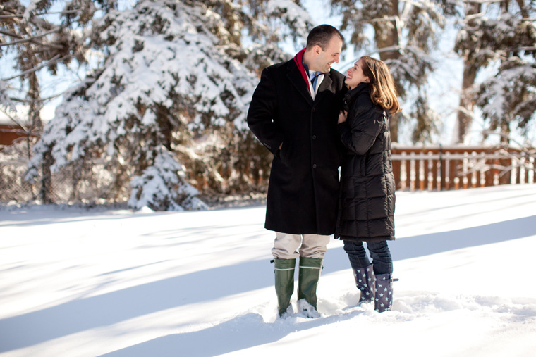 Cozy Winter Engagement Session Washington DC Fireplace Snow Photos by Liz and Ryan (2)