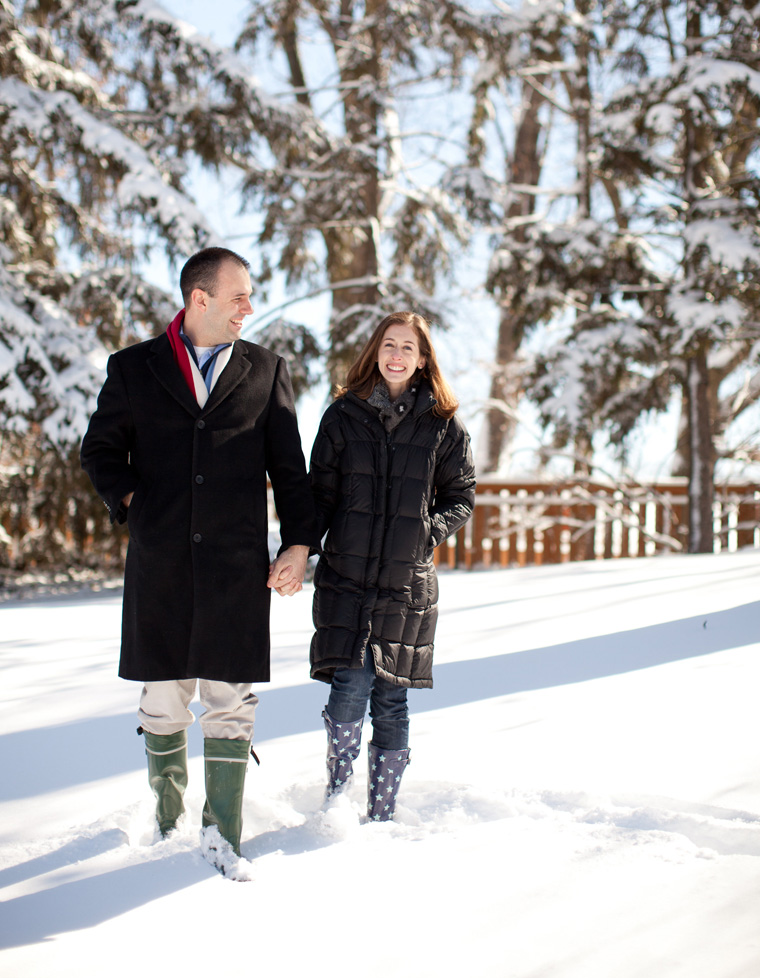 Cozy Winter Engagement Session Washington DC Fireplace Snow Photos by Liz and Ryan (1)