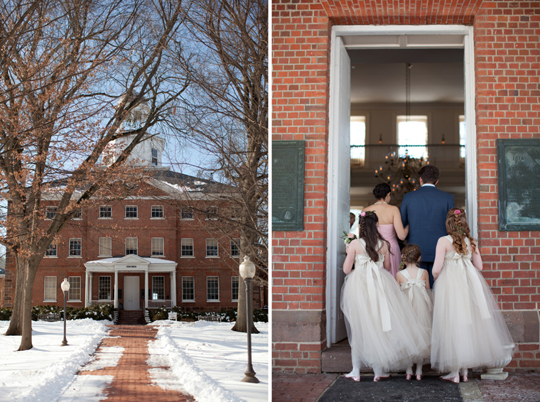 St Johns College McDowell Hall Randall Hall Annapolis Maryland Winter Wedding Snow Wedding and Engagement Photography Classic Romantic Photos by Liz and Ryan (33)