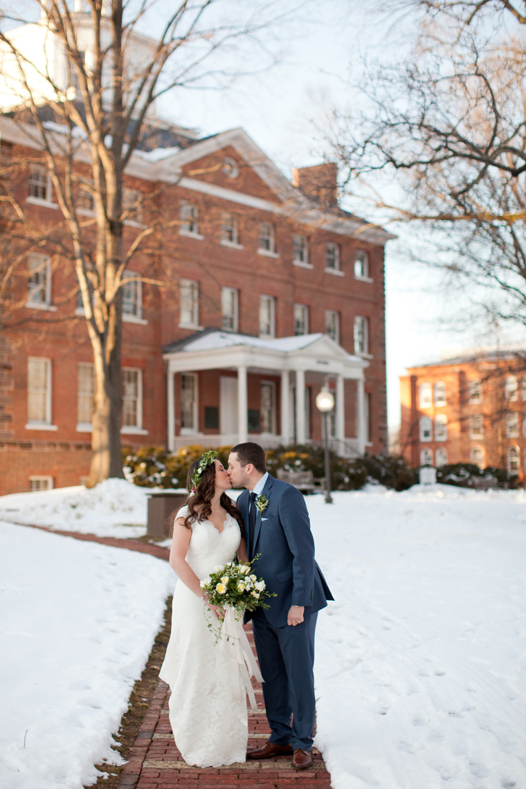 St Johns College McDowell Hall Randall Hall Annapolis Maryland Winter Wedding Snow Wedding and Engagement Photography Classic Romantic Photos by Liz and Ryan (16)