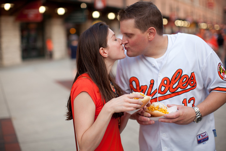 Baltimore Orioles Engagement Session Federal Hill Baltimore Engagement Photos (9)
